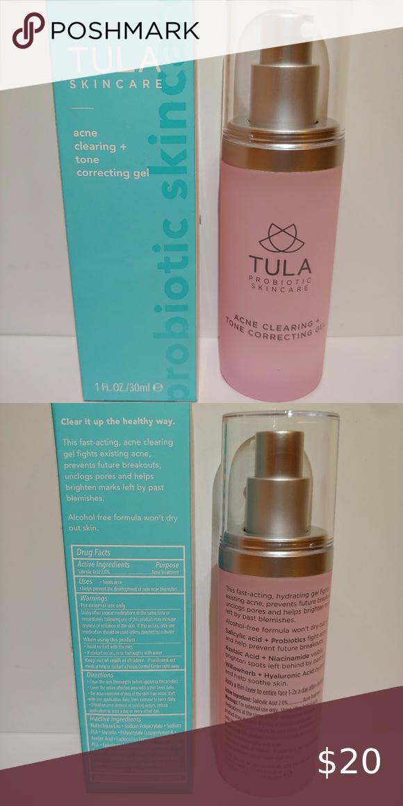 Tula Skincare Acne Clearing Tone Correcting Gel Clear Acne Skin Care Acne Tula Skincare
