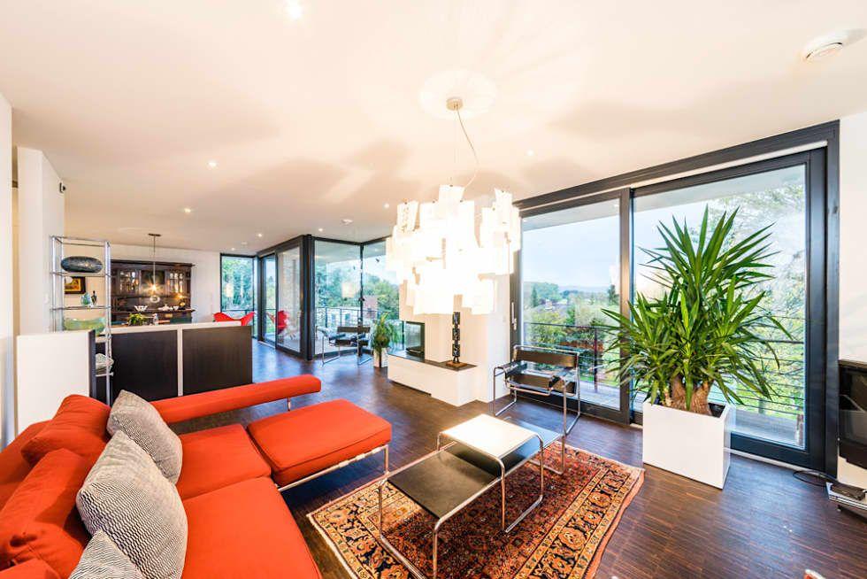Moderne Wohnzimmer Bilder opEnd house - Einfamilienhaus in Lorsch - moderne bilder wohnzimmer