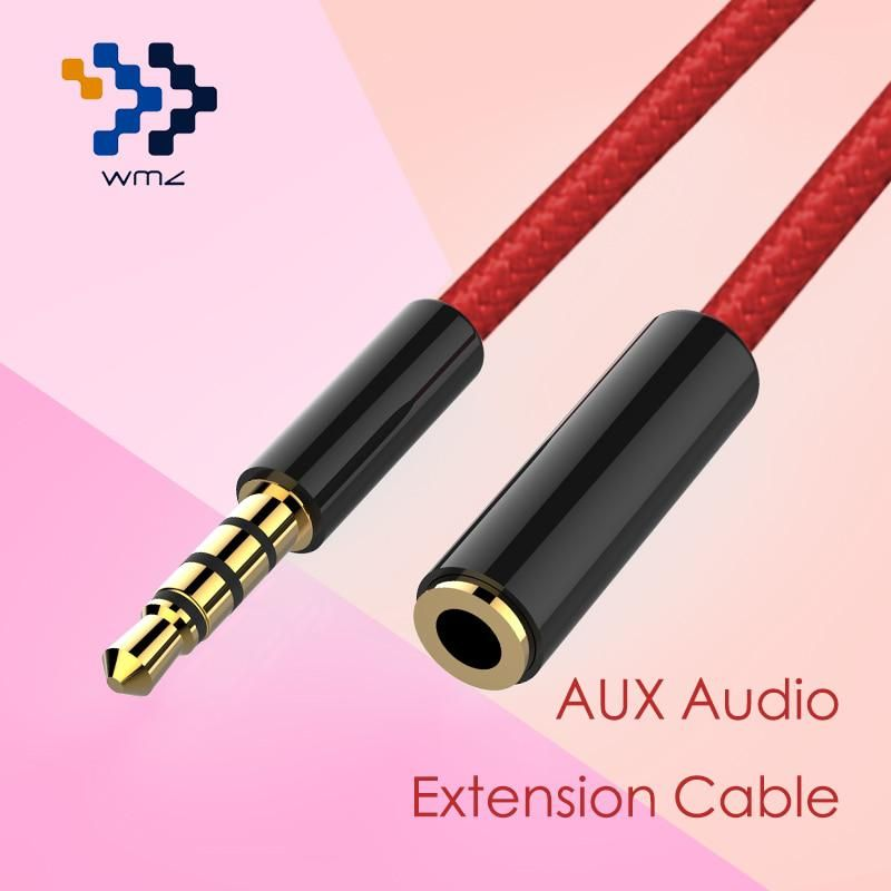 Headphone Extension Cable 3 5mm 4 Pole Wmz Jack Male To Female Aux Us 3 38 Extension Cable Computer Headphones Iphone Cable