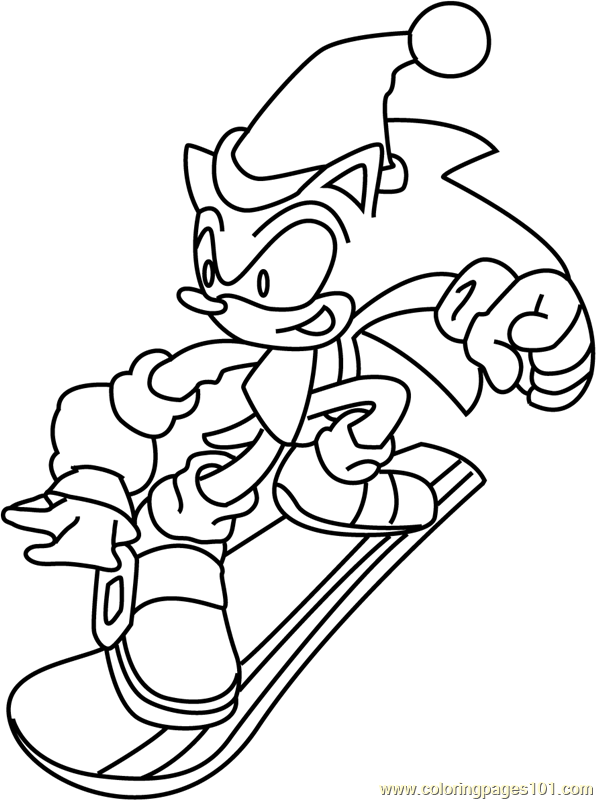 Sonic The Hedgehog Christmas Coloring Pages