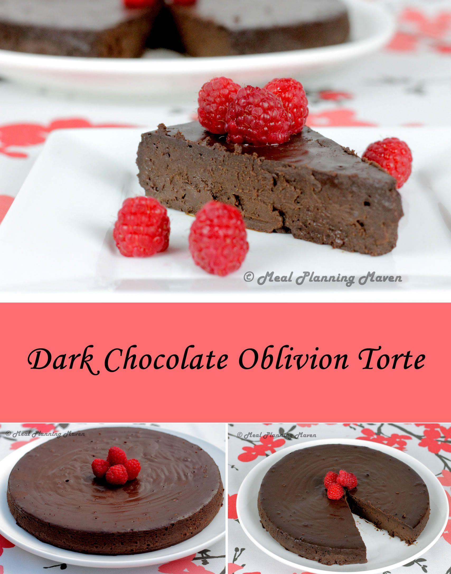 Dark Chocolate Oblivion Torte   Recipe   Dessert recipes ...