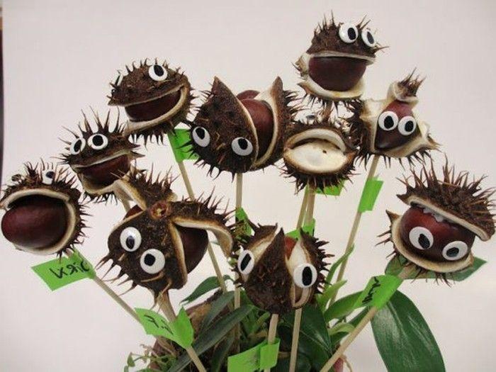Basteln mit Kastanien - etwas Lustiges im Herbst unternehmen - Archzine.net #bastelnmitkastanienkinder