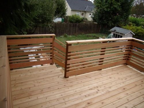 Pin By Queen Mab On Railings Privacy Screens And Fences Deck Railing Design Diy Deck Horizontal Deck Railing