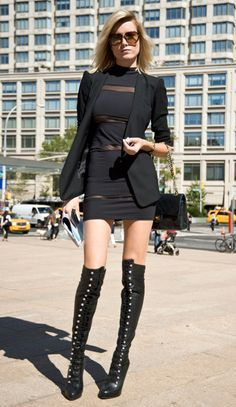 dresses with thigh high boots - Google Search | Boots | Pinterest ...