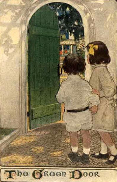 The Green Door - Jessie Willcox Smith