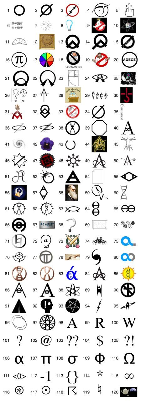 A Collection Of Atheist Symbols Code Pinterest Tattoo Atheist