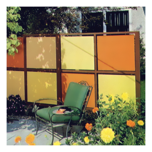 1960s Outdoor Privacy Screen.