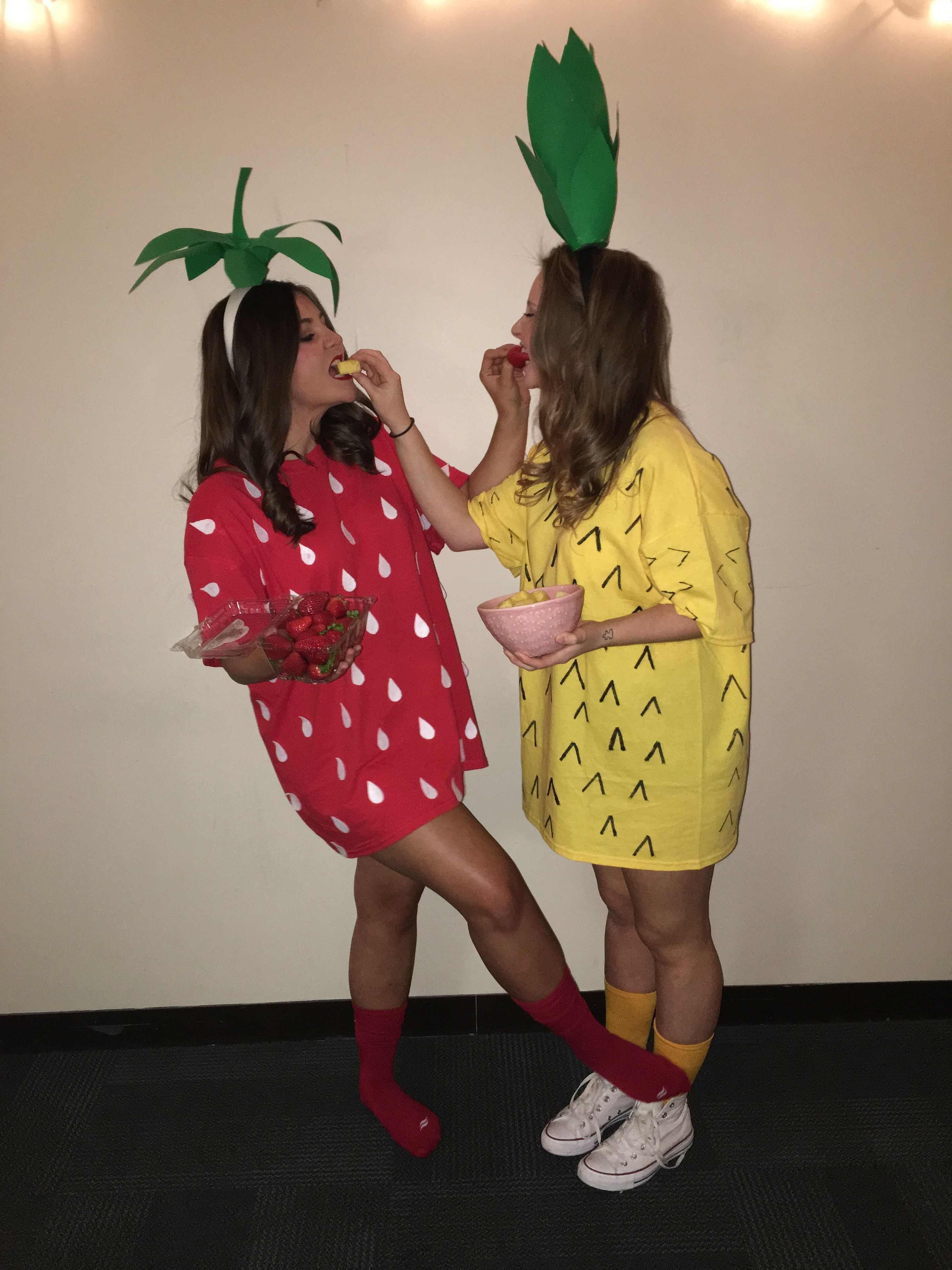 Ananas Kostüm Selber Machen Diy Strawberry And Pineapple Costume Fruits Fruit Salad
