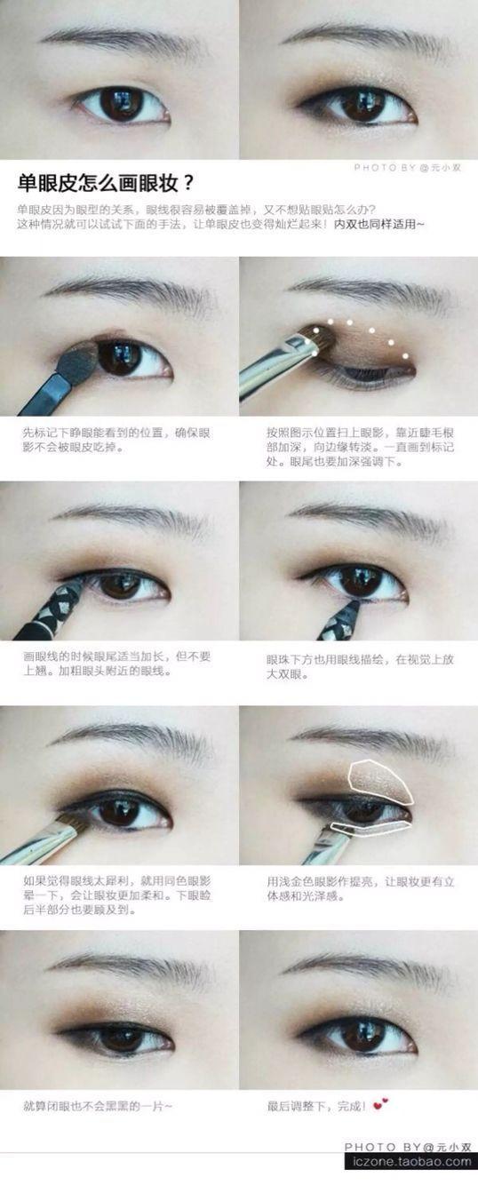 monolid eyeshadow tutorial #eyeshadowtutorials   Monolid ...