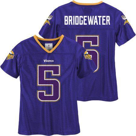 new styles 6bd86 44903 NFL Minnesota Vikings Girls Teddy Bridgewater Jersey, Size ...