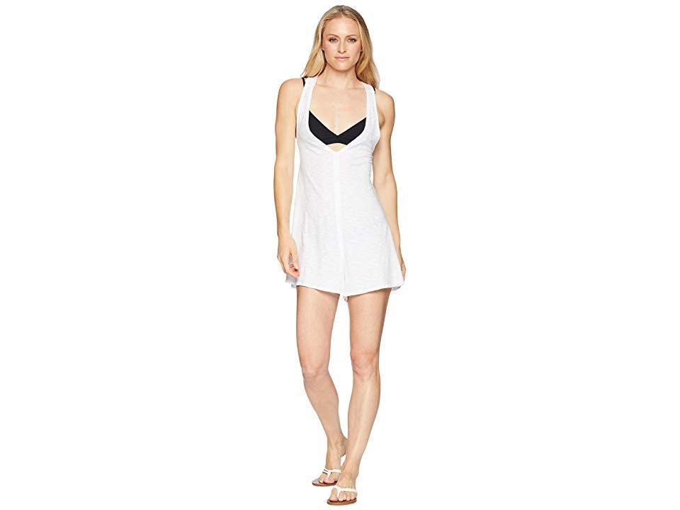 0af2d798f1 Speedo Alice Romper Swimsuit Cover-Up (White) Women's Swimsuits One Piece.  Transition effortlessly from the beach to the boardwalk in the gorgeous  Alice ...