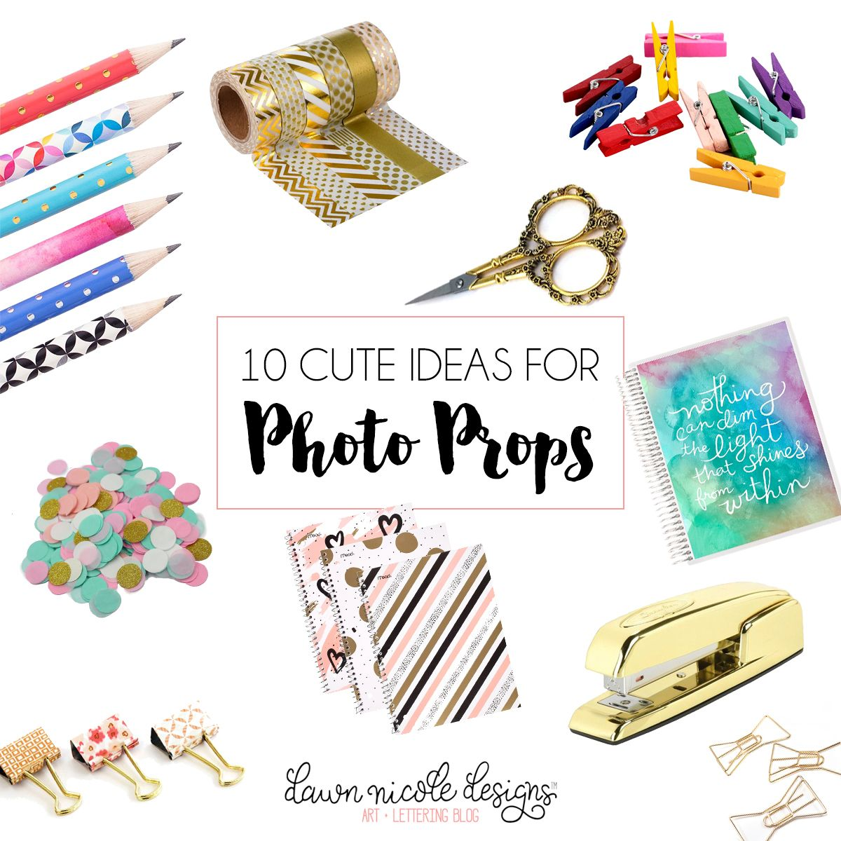 10 Cute Ideas For Photo Props