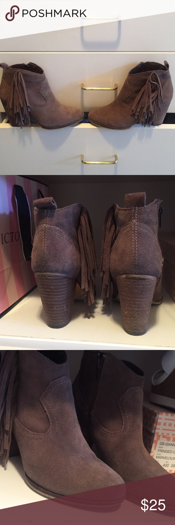 Steve Madden Booties Size 6 Steve Madden Booties. Has a little dirt on back heel but can wipe clean with suede cleaner. Steve Madden Shoes Ankle Boots & Booties