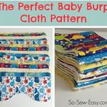 Free pattern: The Perfect Baby Burp Cloth