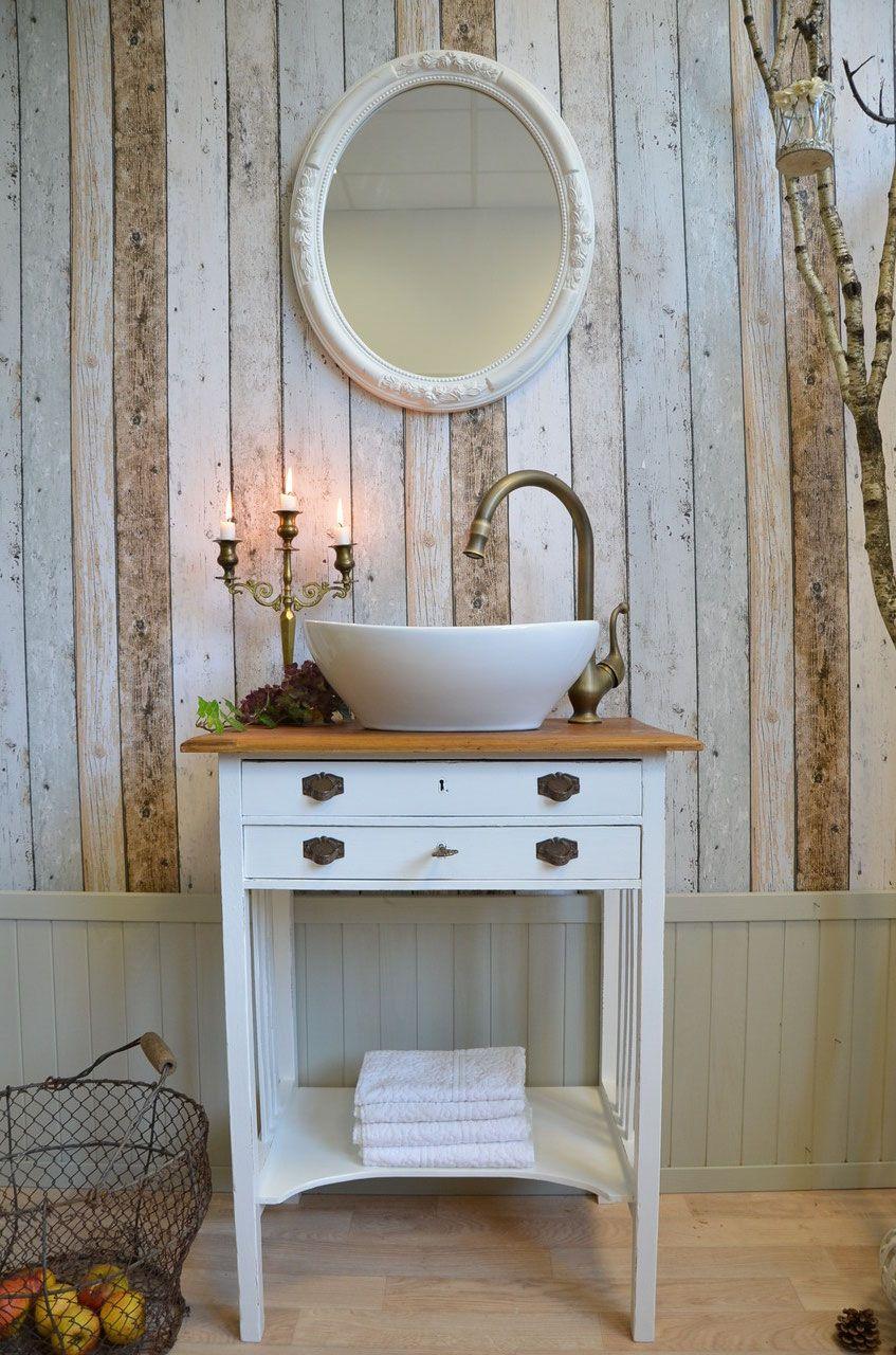 Antique White Shabby Chic French Bathroom Vanity Unit Sink Drawers Shabby Chic Badezimmer