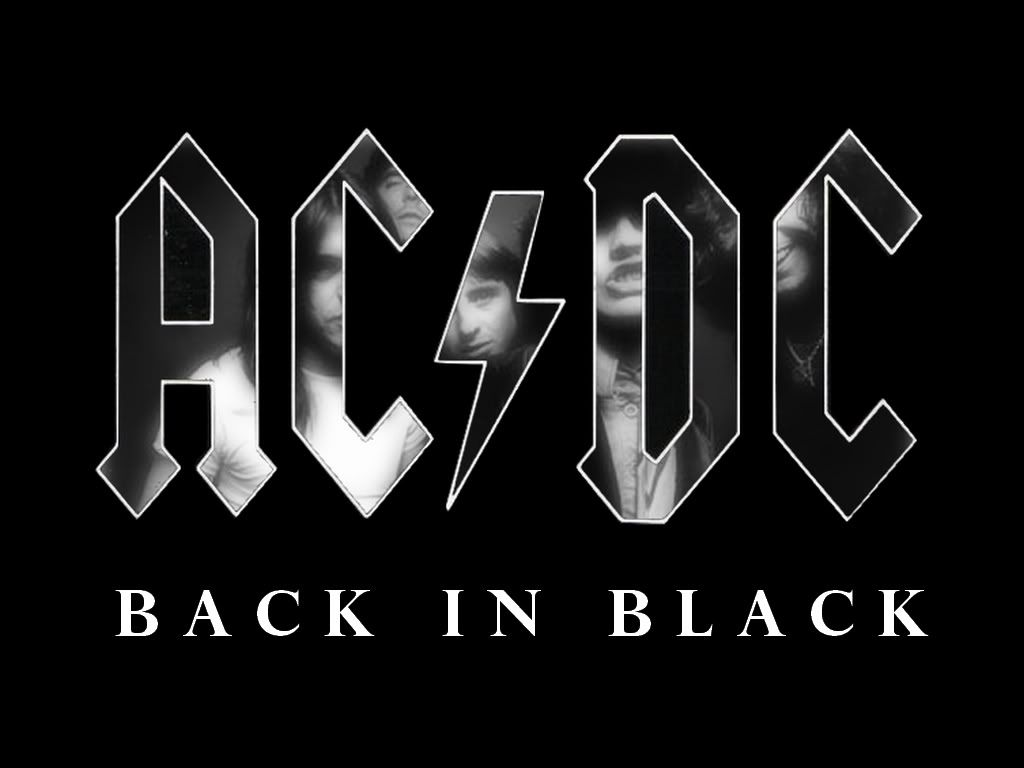 Back In Black Ac Dc Acdc Back To Black Acdc Albums