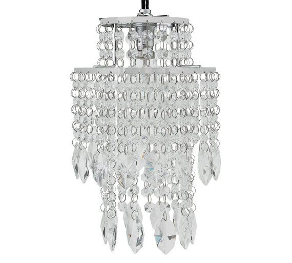 buy heart of house naples 2 tier glass pendant shade at argos co uk