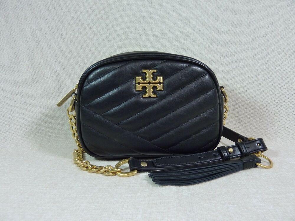5fde161b744 NWT Tory Burch Black Kira Chevron Small Camera Bag $358 #ToryBurch  #Crossbody