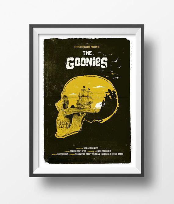 Alternative The Goonies Poster Film Print Skull Never Say