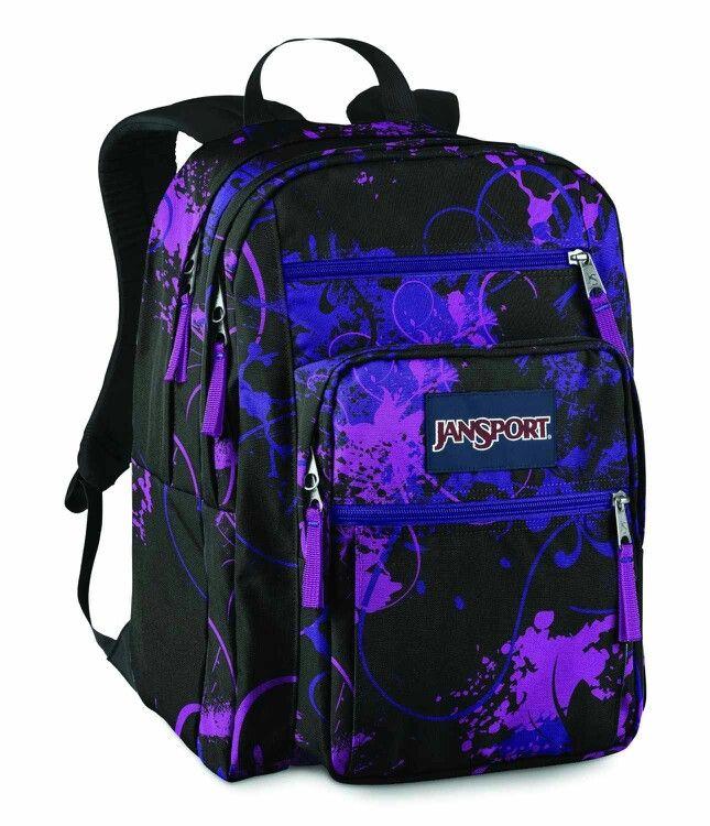 Dark purple and blue floral Jansport | Jansports ...