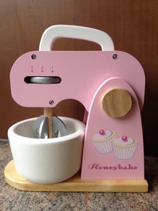 Le Toy Van Honeybake Mixer Set Toy Kitchen Accessories Kids Wooden Toys Toy Kitchen