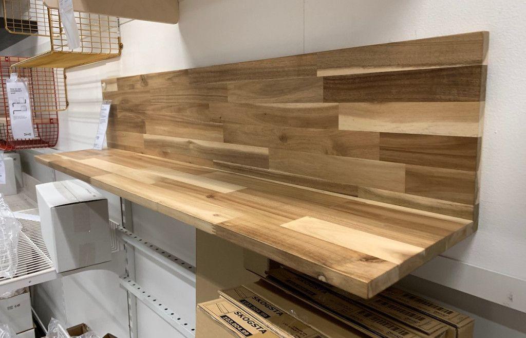 skogsta wall shelf acacia 47 1 4x9 7 8 wall shelves on wall shelf id=57591