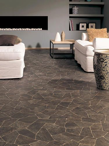 Ivc Impact Sheet Vinyl Flooring Slate Charcoal 97 12 Ft Wide At Menards Love This For The Kitchen Vinyl Flooring Vinyl Flooring Kitchen Flooring