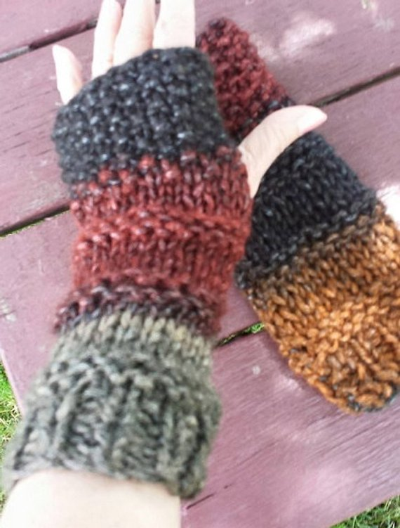 PDF Knitting Pattern for Slouchy Medieval Knit Chunky Arm ...