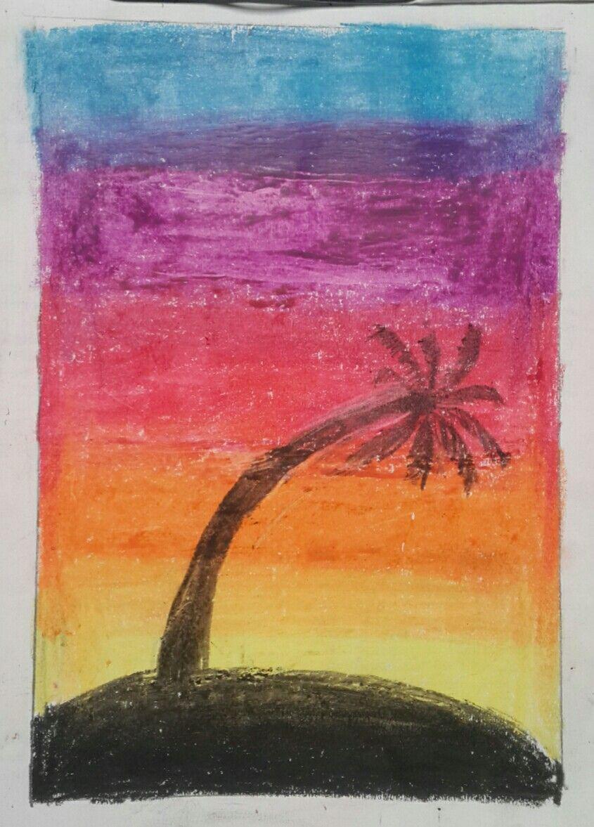Oil Pastel Easy Landscape Painting Oil Pastel Paintings Oil Pastel Drawings Easy Oil Pastel Drawings