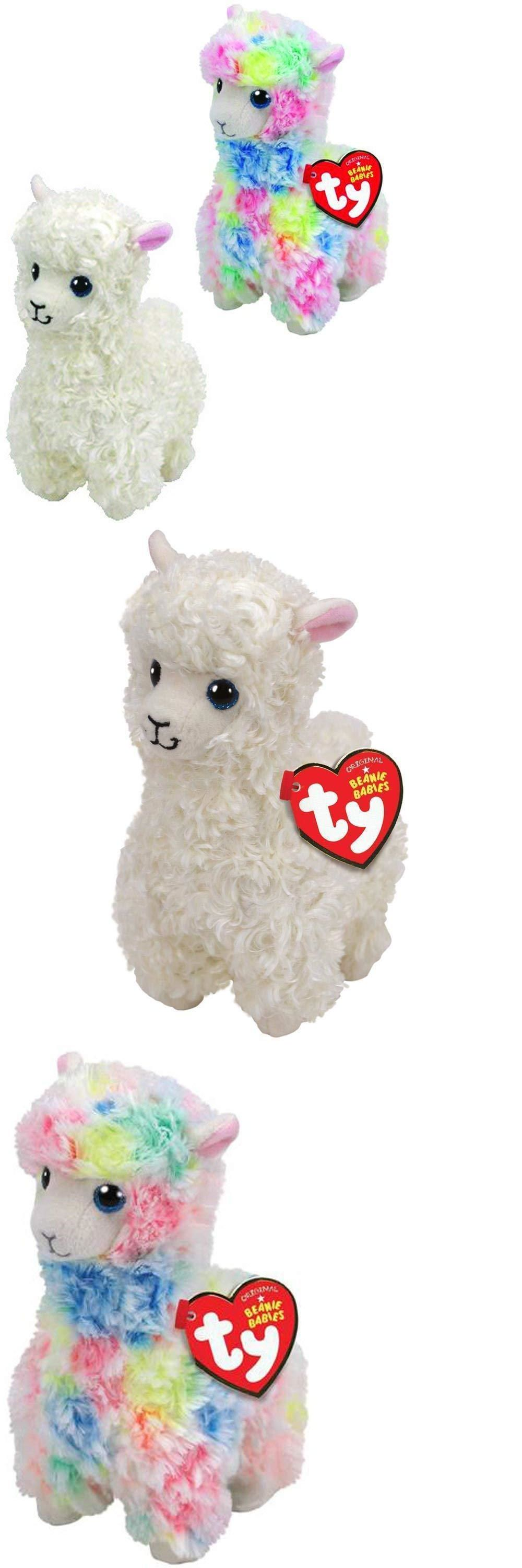 d8ff4010fd2 Current 165959  Set Of 2 Ty Beanie Baby 8 White Lily And Rainbow Lola Llama  Plush W Heart Tags -  BUY IT NOW ONLY   14.95 on eBay!