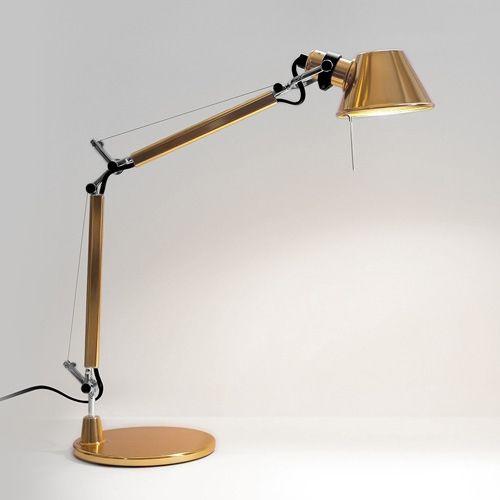 Artemide Tolomeo Micro Gold Product Data Tafellamp Bureaulamp Gouden Lampen