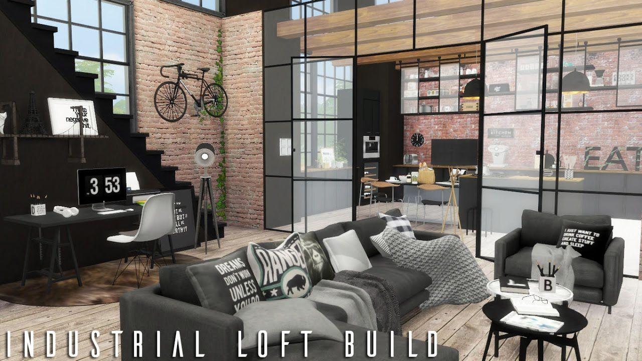 The Sims 4 Industrial Loft + CC LINKS BUILD YouTube