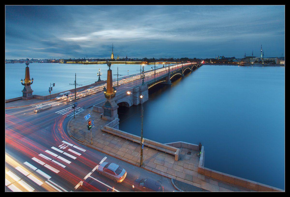 Троицкий мост через Неву, Санкт-Петербург | Город, Санкт ...