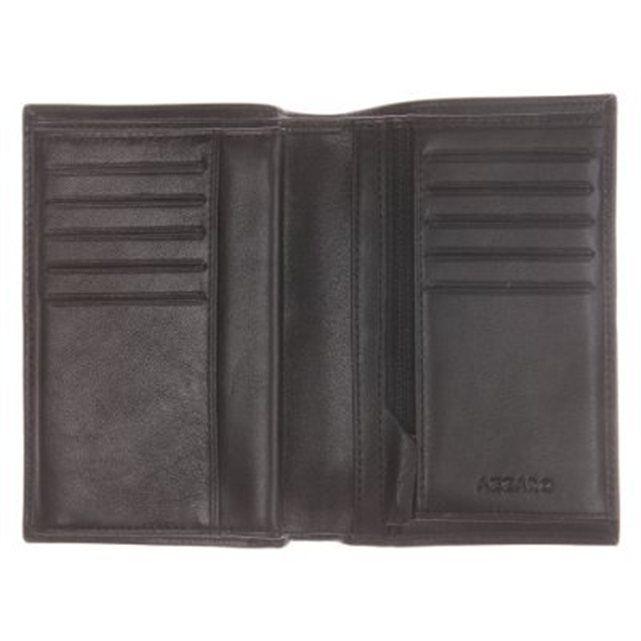 Portefeuille en cuir noir 10 inserts à cartes cuir   Portefeuille ... 93b413db523