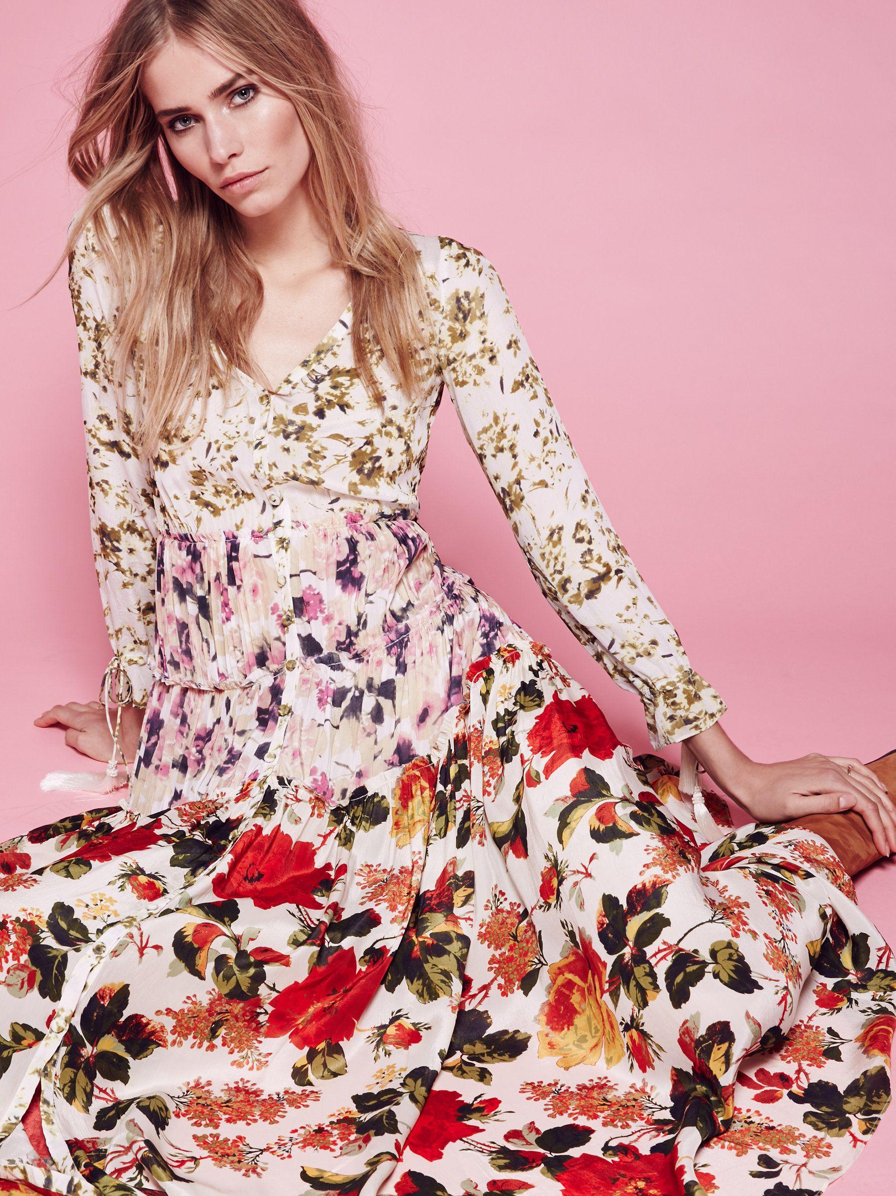Mixed floral maxi dress pinterest floral maxi dress floral maxi