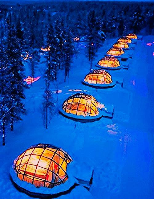 Photo of You Can Rent A Glass Igloo In Finland To Watch The Northern Lights