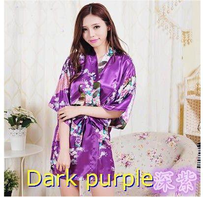 Elisa E Silk Kimono Robe