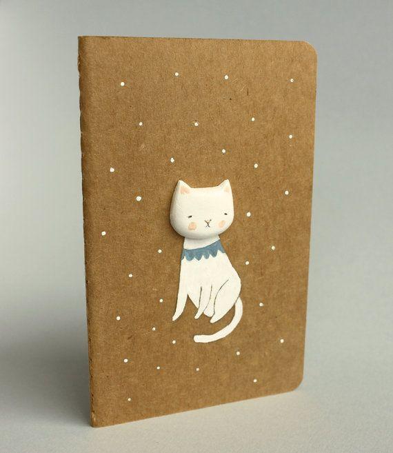 Moleskine cahier - Altered journal - Cat notebook - Melancholicat