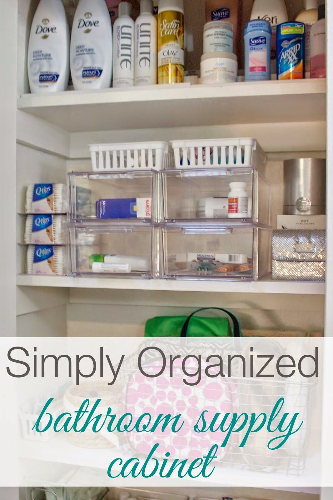Supply Closet Organization Ideas Part - 34: Organized Bathroom Supply Cabinet