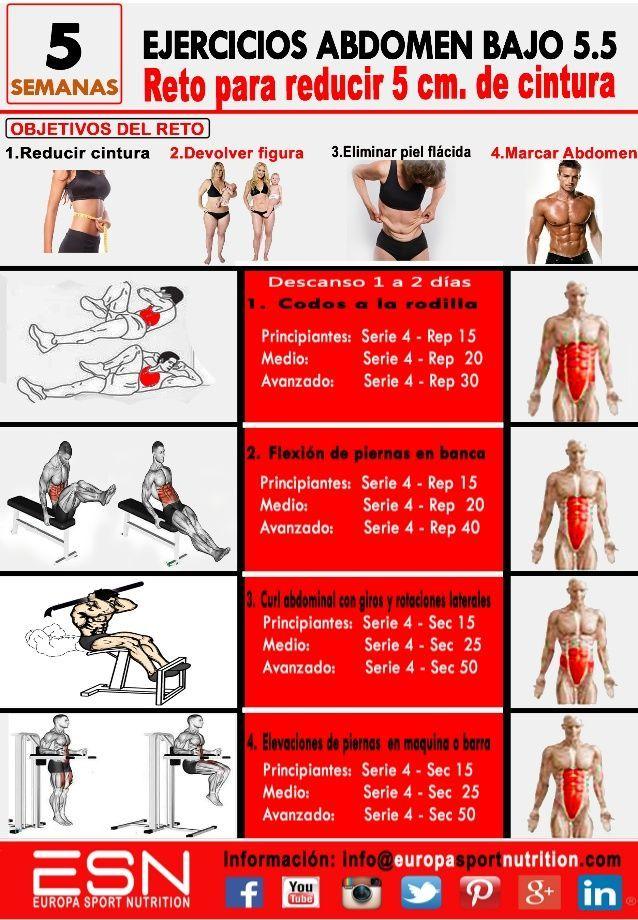 Ejercicios para abdomen y cintura en el gym