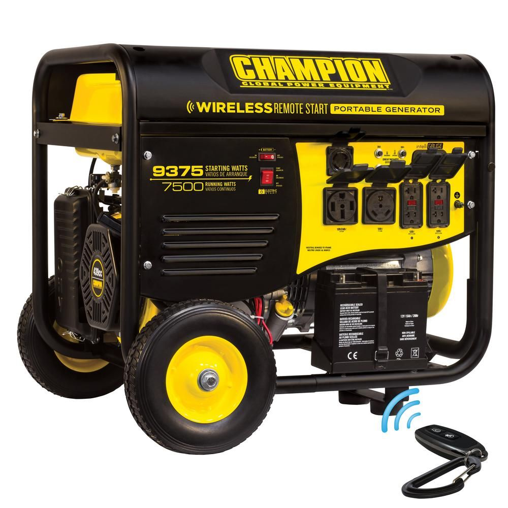 Champion Power Equipment 7,500-Watt Gasoline Powered Wireless Remote