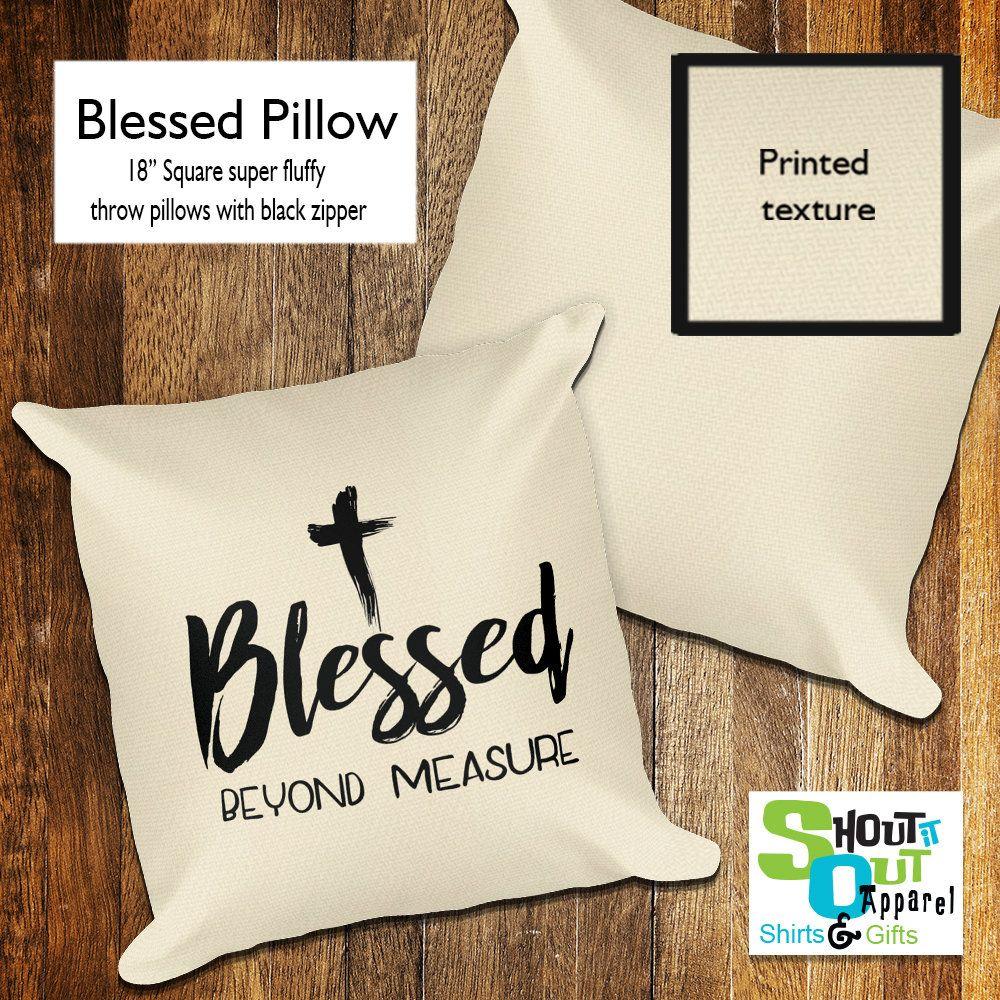 Blessed throw pillow, Spiritual accent pillow, Religious home decor ...