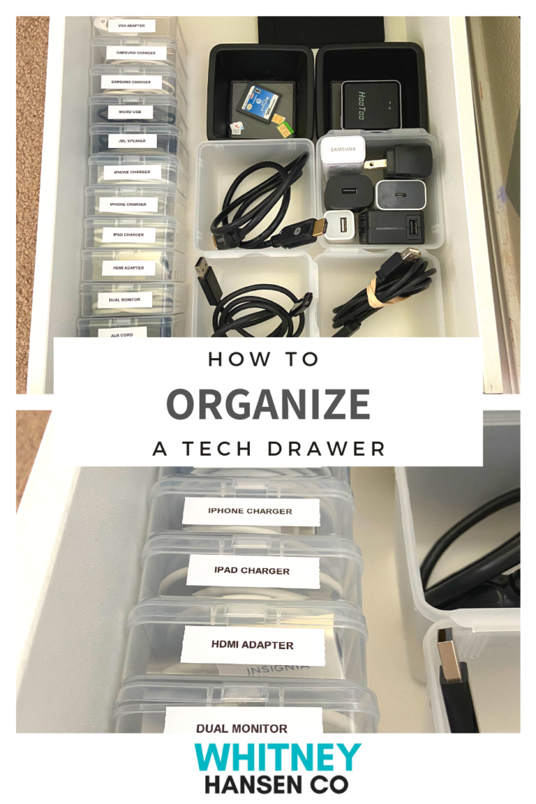 How to Organize a Tech Drawer