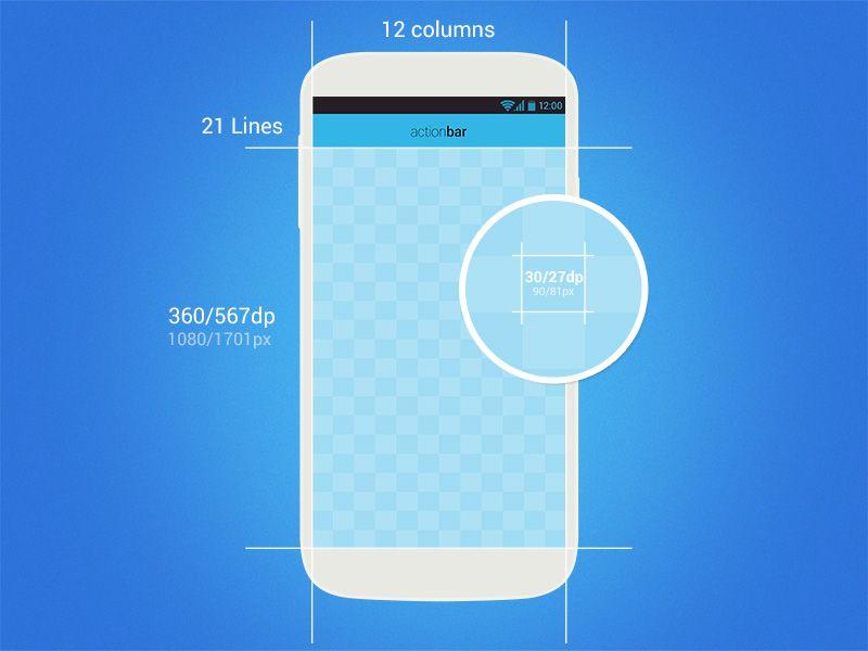 Android SmartGrid - DP Perfect (freebie)   App design ...