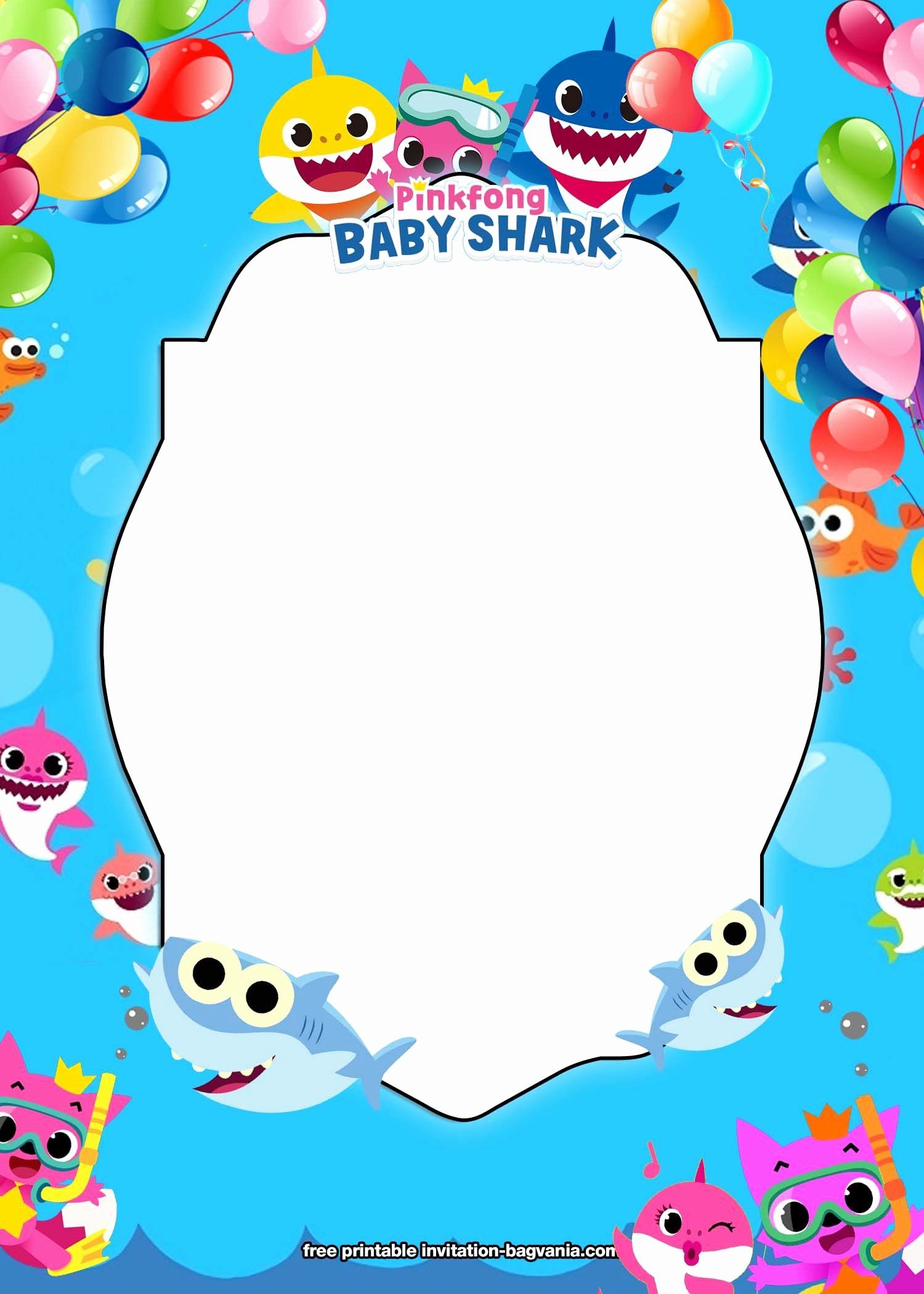 Shark Birthday Invitation Free Printables New Free