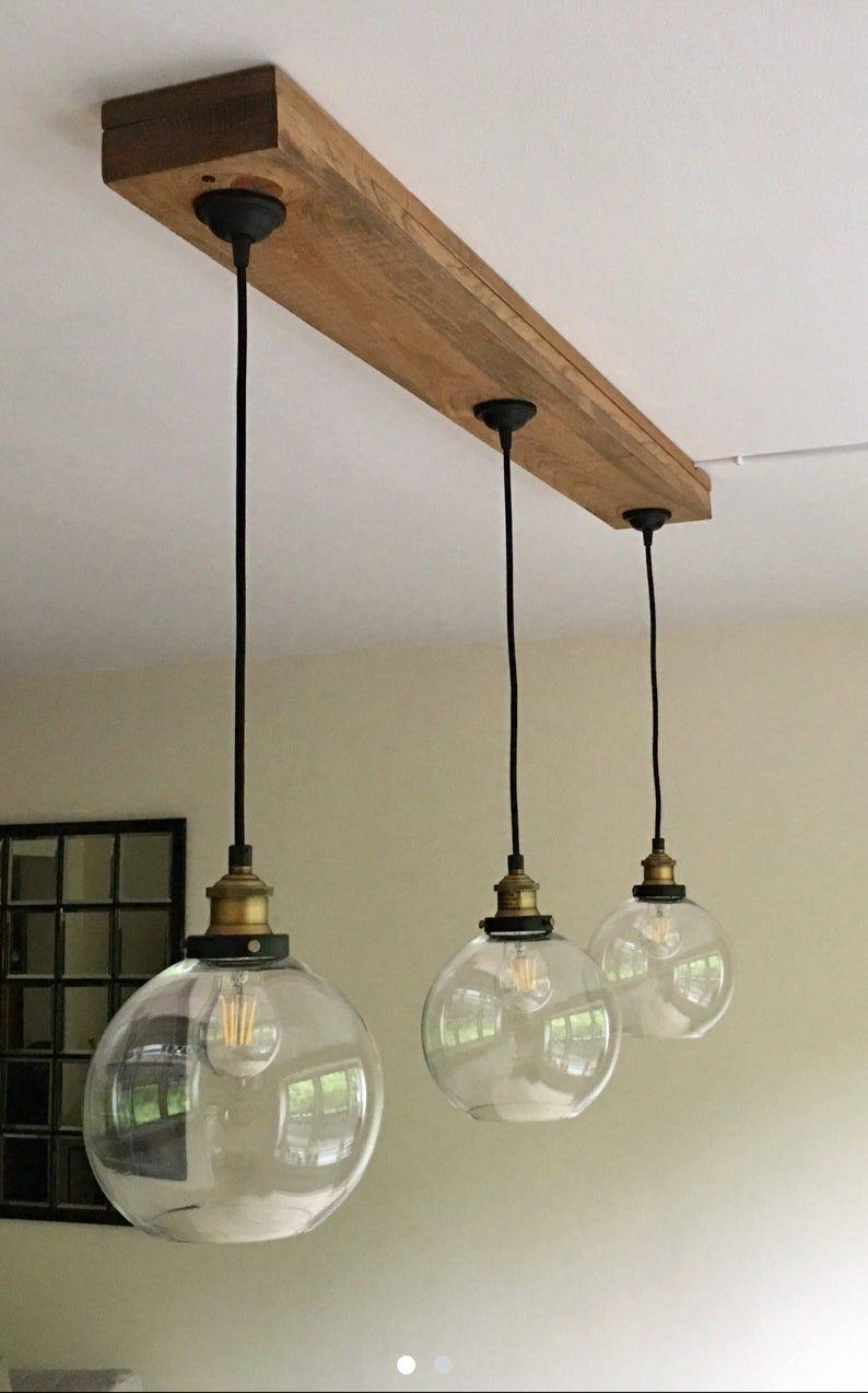 Modern And Rustic Beam Light Farmhouse Chandelier Light Bulbs