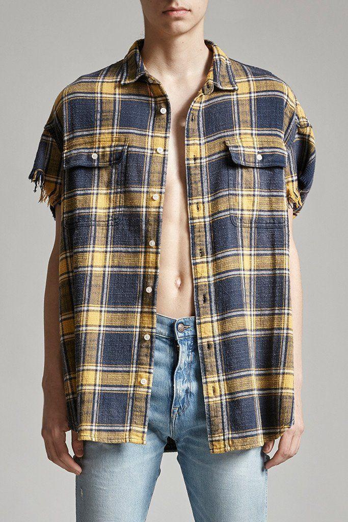Oversized Cut-off Shirt – R13