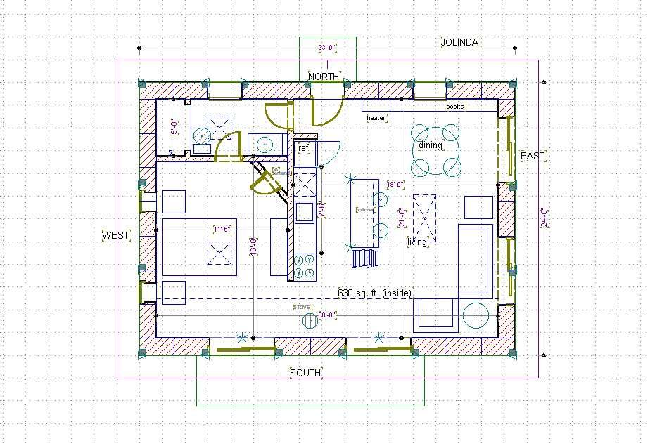 Straw Bale House Plan 660 Sq Ft Straw Bale House House Plans Hobbit House