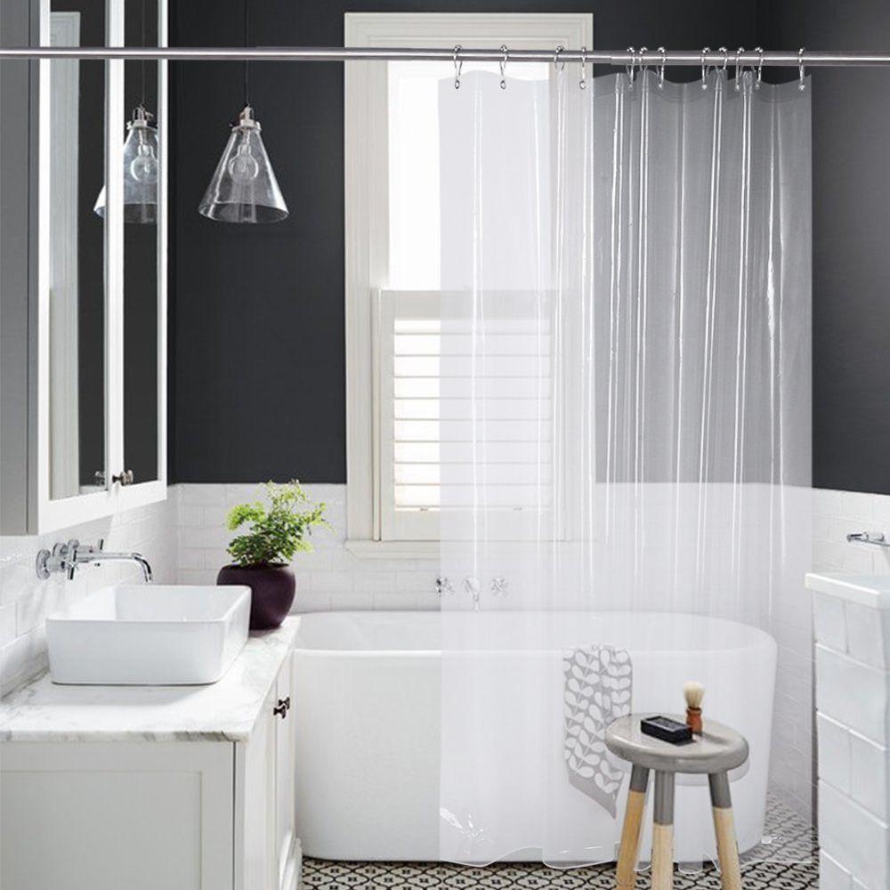 Amazer Shower Curtain Liner 72 X 72 Clear 8g Mildew Resistant Thick Bathroom Amazer Cool Shower Curtains Bathroom Shower Curtains Curtains