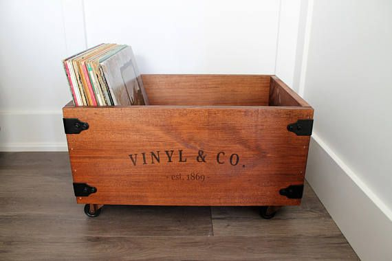 LP Vinyl Record Storage Crates / Boxes